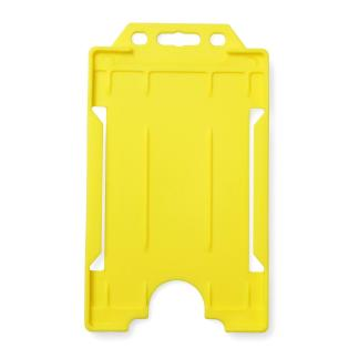 Single-Sided Open Faced ID Card Holder - Portrait (Yellow)