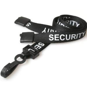 Security Lanyards With Plastic J Clip (Pack Of 100)