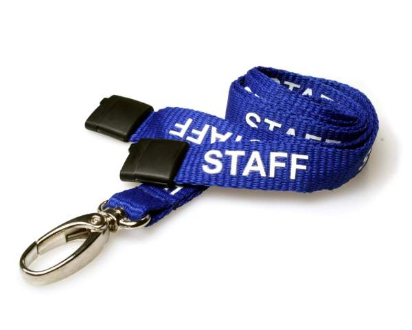Royal Blue Staff Lanyards with Metal Lobster Clip