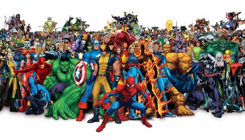 Todos los superheroes de Marvel en una imagen