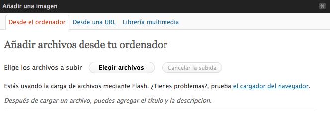 ¿Por qué falla el cargador de imágenes Flash en WordPress? .htaccess – passwd en wp-admin
