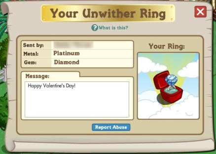 Unwither Ring Farmville