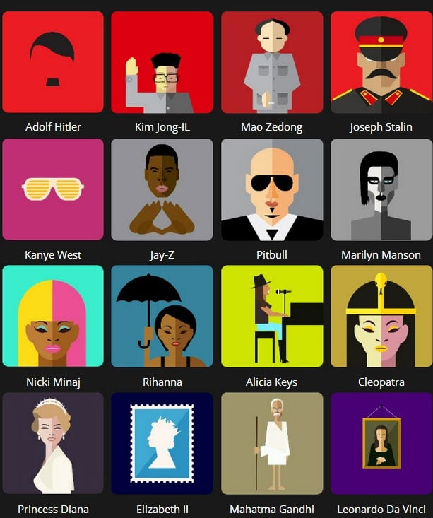 Icon Pop Quiz Answers Famous People Level 2