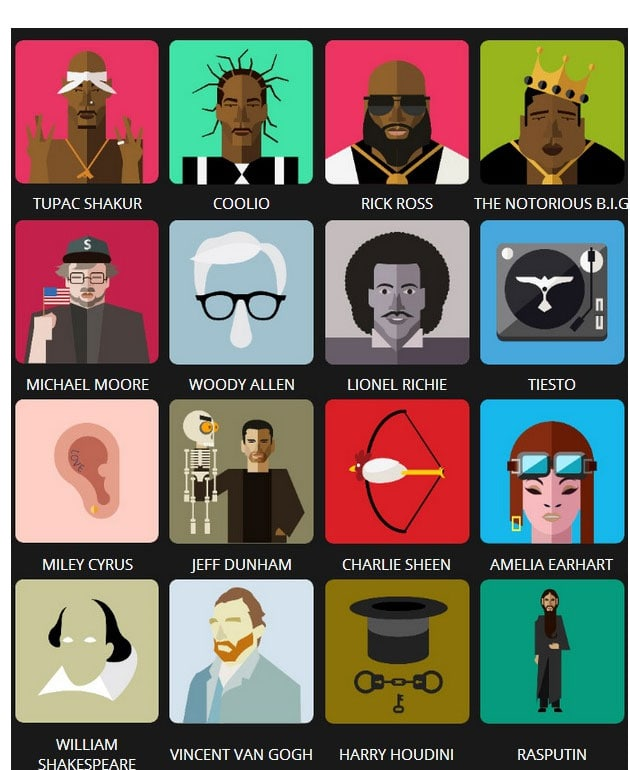Icon Pop Quiz Answers Famous People Level 4