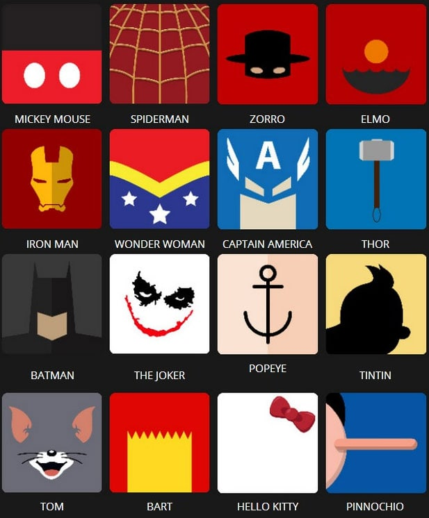 Icon Pop Quiz Answers Character Level 1