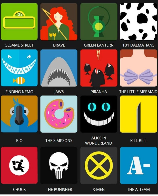 Icon Pop Quiz Answers Tv&Film Level 2