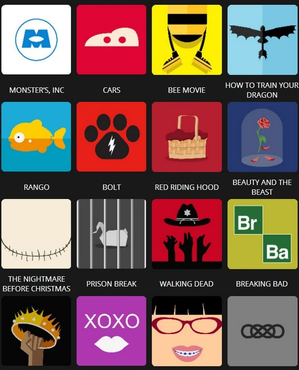 Icon Pop Quiz Answers Tv&Film Level 3