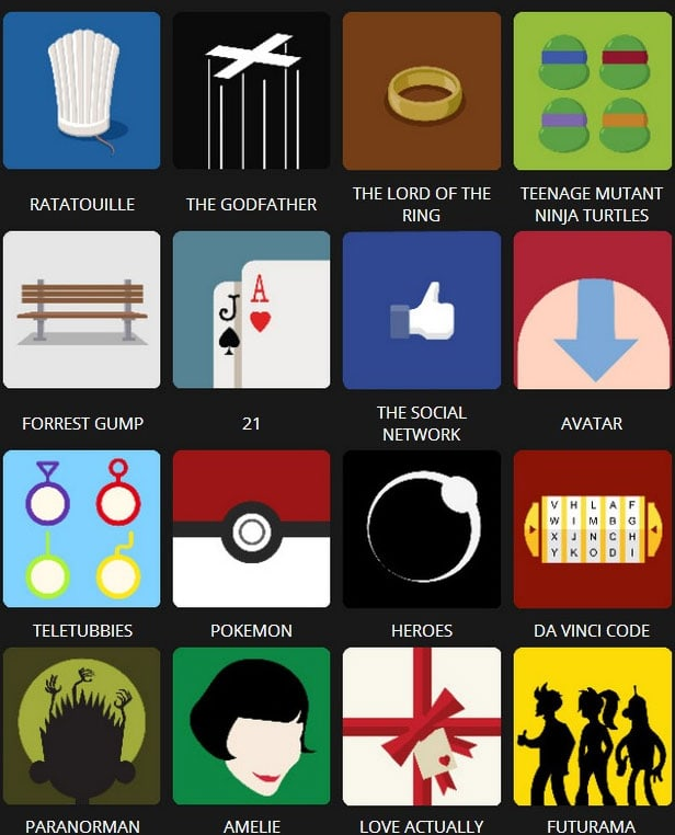 Icon Pop Quiz Answers Tv&Film Level 4