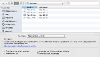 guardar docx como html en Word para Mac