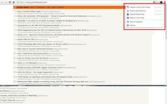 Cómo realizar capturas de pantalla en Google Chrome