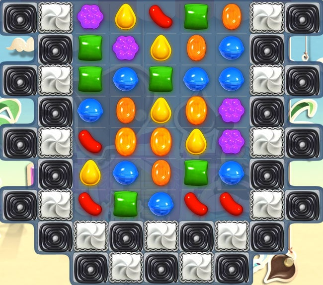 nivel 125 de Candy Crush Saga