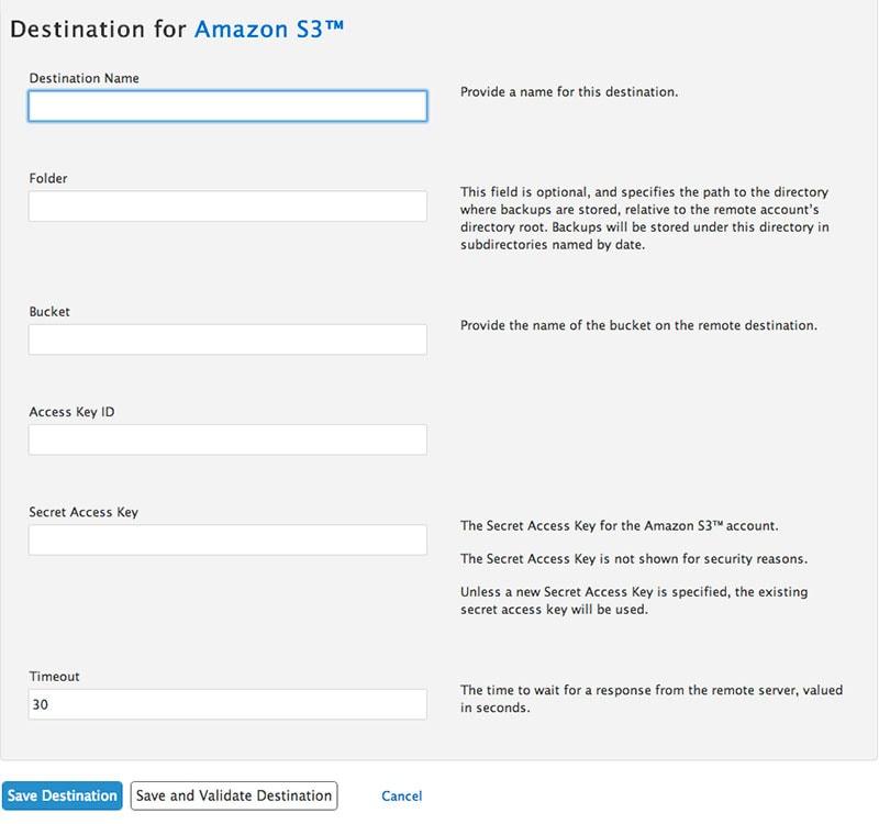 Cómo enviar un backup de nuestro servidor WHM cPanel a Amazon S3