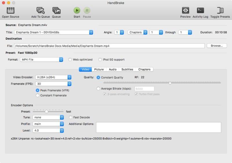 Cambiar el formato archivos de video y audio con Handbreak