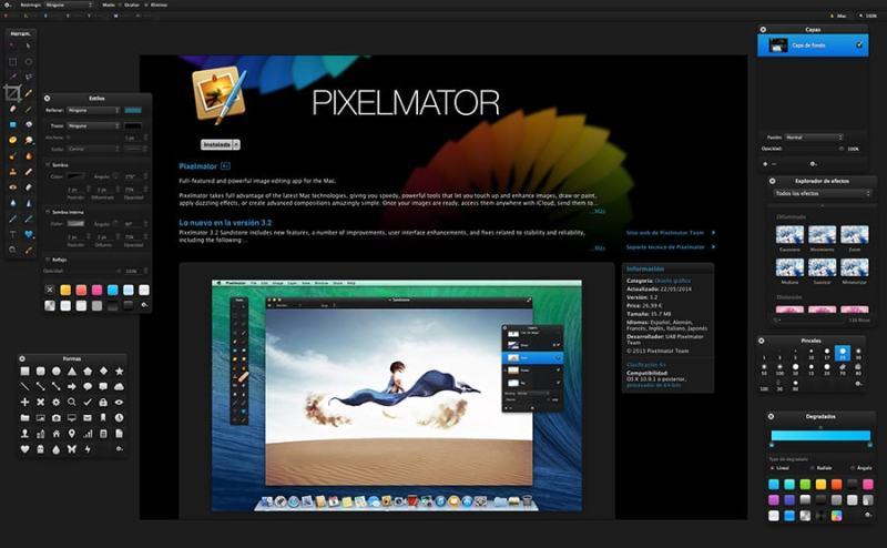 pixelmator mac - retoque fotografico