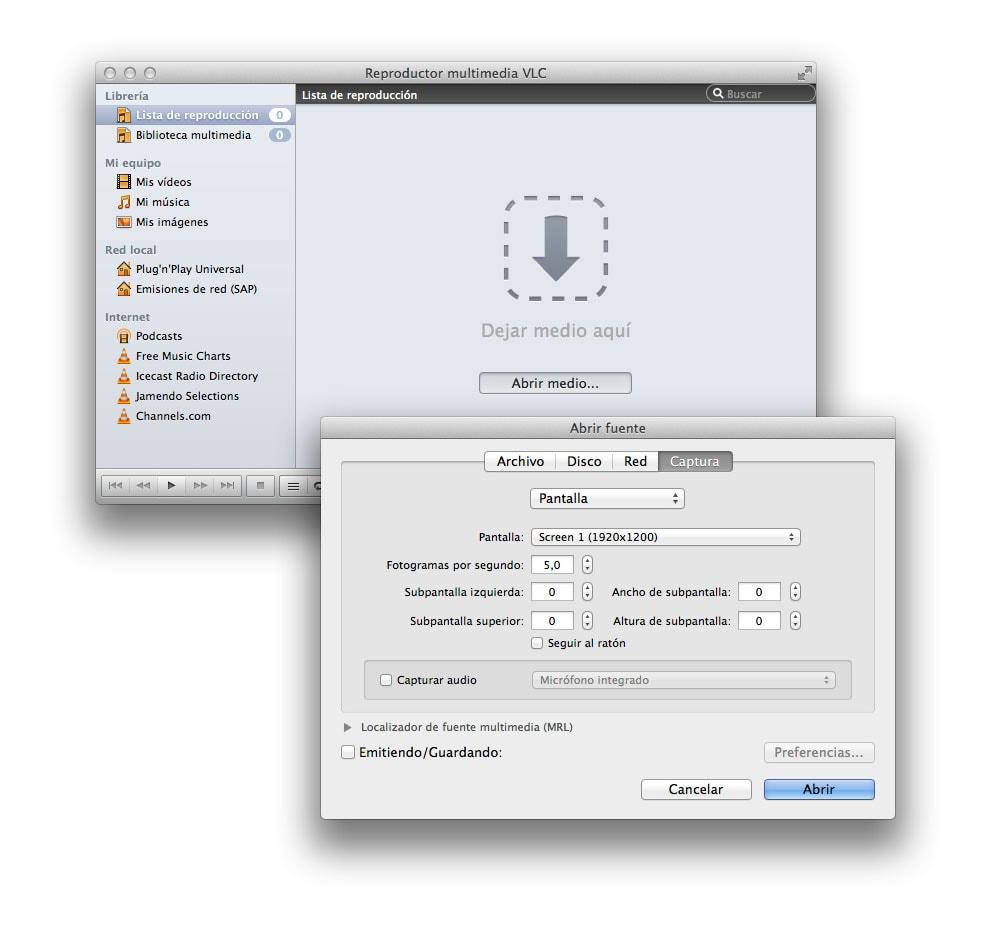 Grabar la pantalla del ordenador con VLC