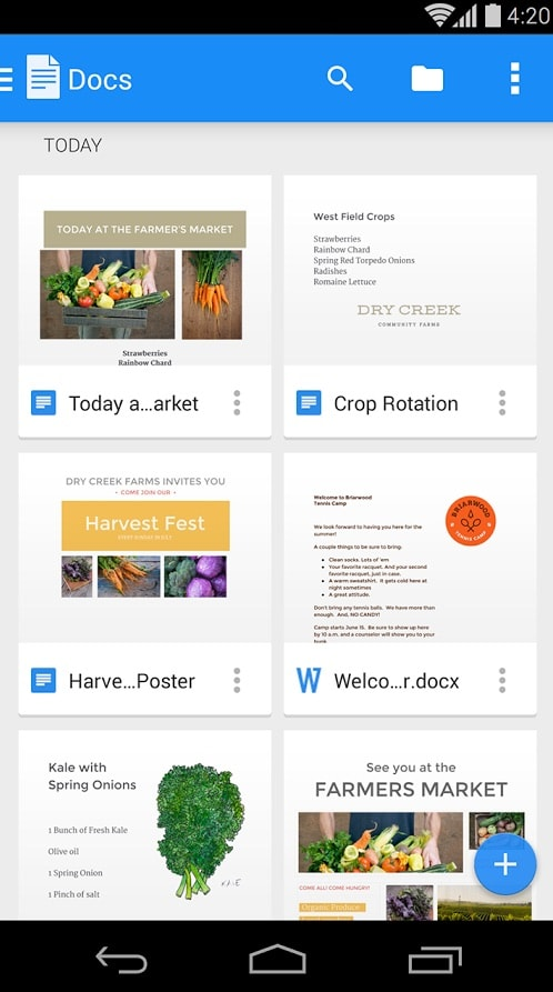 Documentos Google Android Google Play