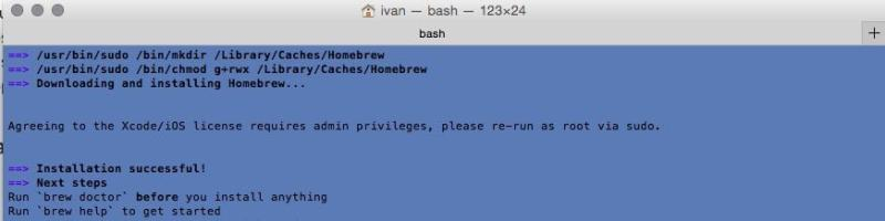 Cómo instalar software en el Mac desde Terminal con Homebrew
