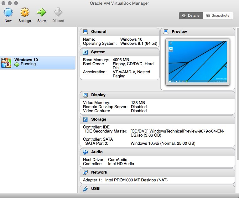 virtualbox windows 10