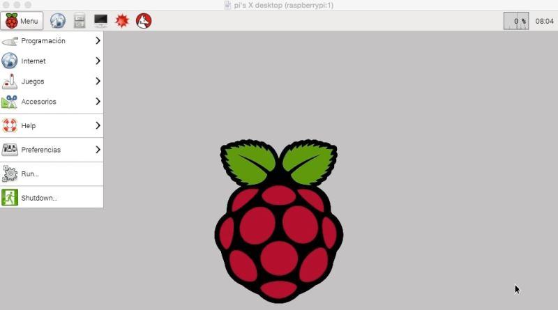 Raspberry Pi 2 mediante un entorno gráfico remoto