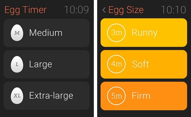 Boiled Egg Timer app Apple Watch