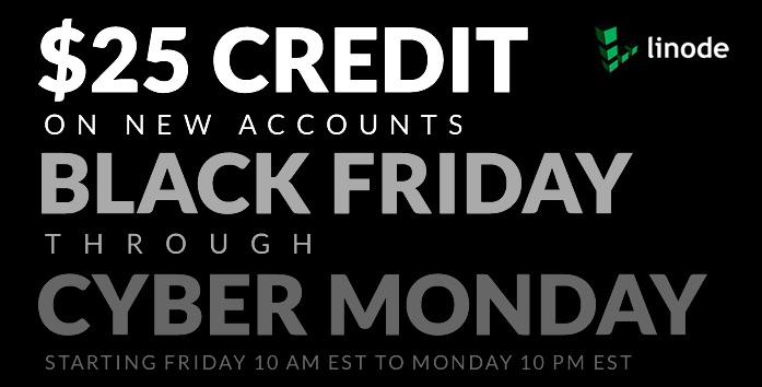 Oferta de hosting web con Linode: 25$ de crédito (especial Black Friday - Cyber Monday)