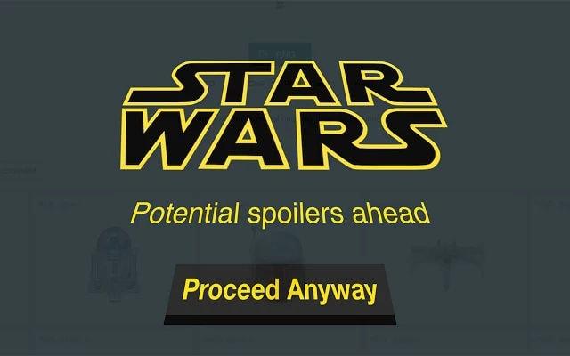 Cómo bloquear todos los spoilers de Star Wars con una extensión de Google Chrome