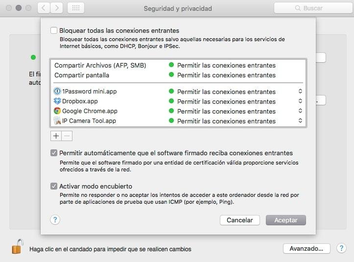 Firewall para Mac