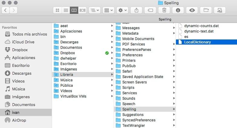 Cómo eliminar palabras que hemos añadido por error al diccionario de Mac Os X