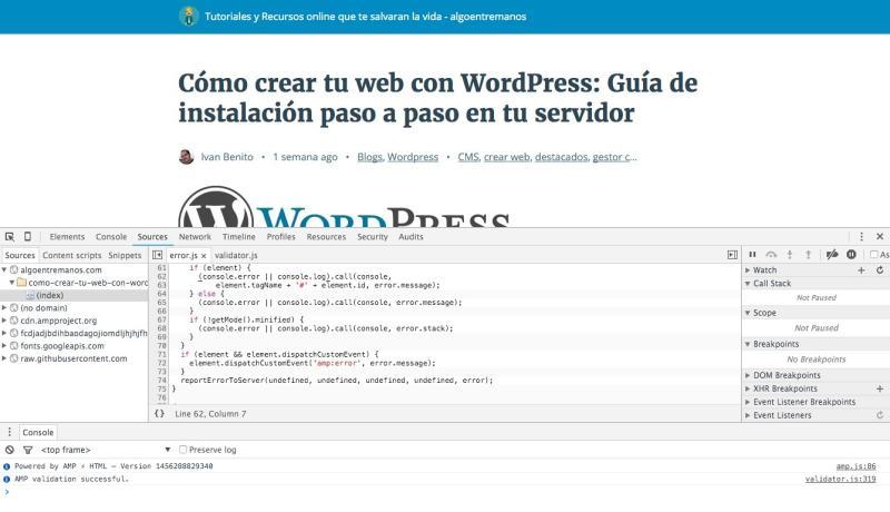 WorPress y AMP: Errores más comunes y como solucionarlos
