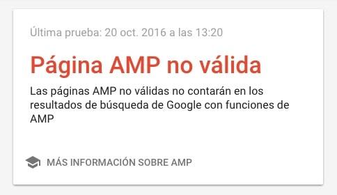 AMP no valido