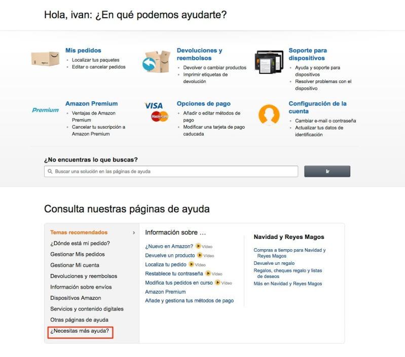 Ayuda Amazon España