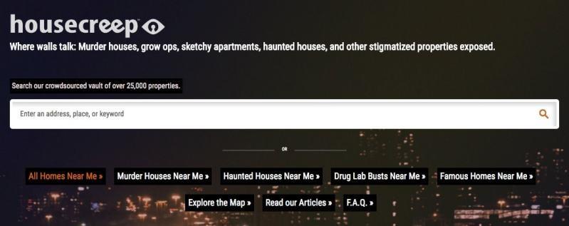 Housecreep: csaas con asesinatos y fantasmas en EEUU