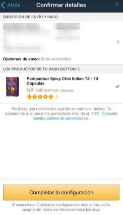 Dash Button amazon España: configuración