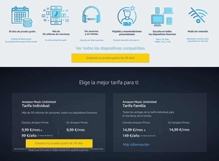 Amazon Music Unlimited España