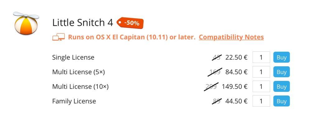 Little Snitch: 50% de descuento