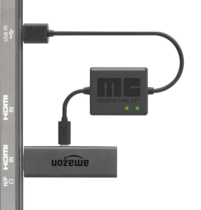 Mission Cables MC9E - Cable USB de alimentación para el Amazon Fire TV Stick, color negro