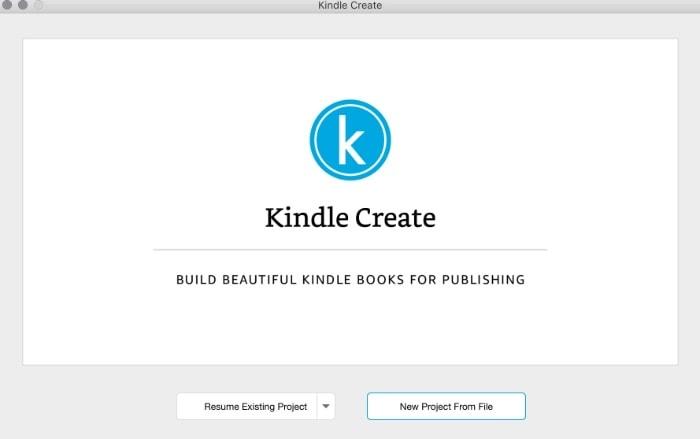 kindle create ebook
