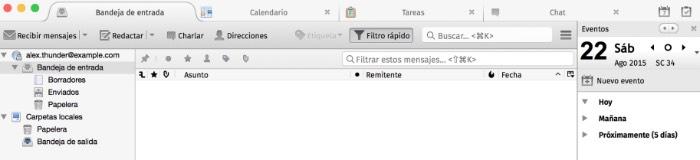 Los mejores programas de correo para MacOS: Thunderbird(gratis)