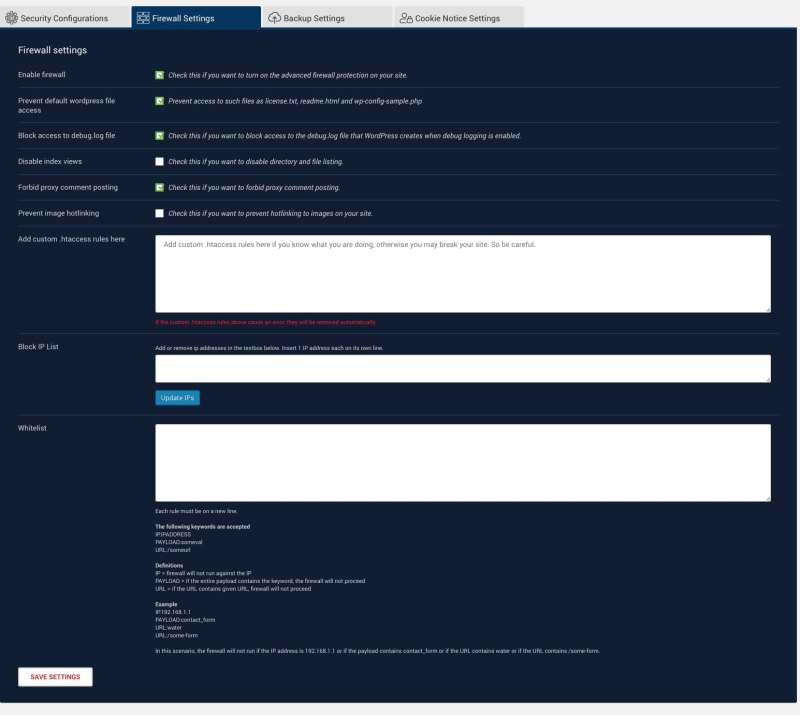 WebARX plugin wordpress