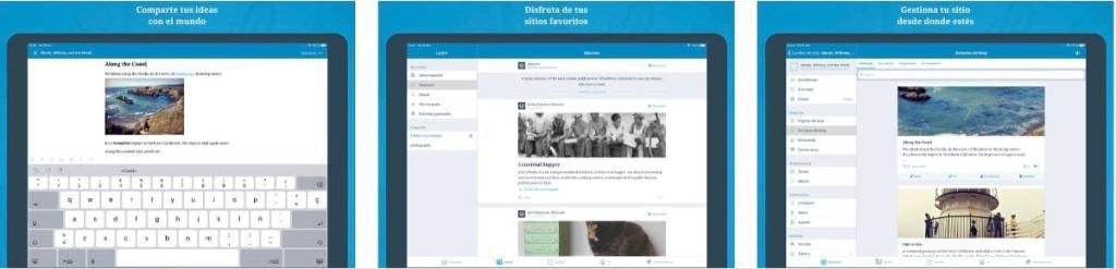 La app oficial de WordPress para iOS en el presente: iPad