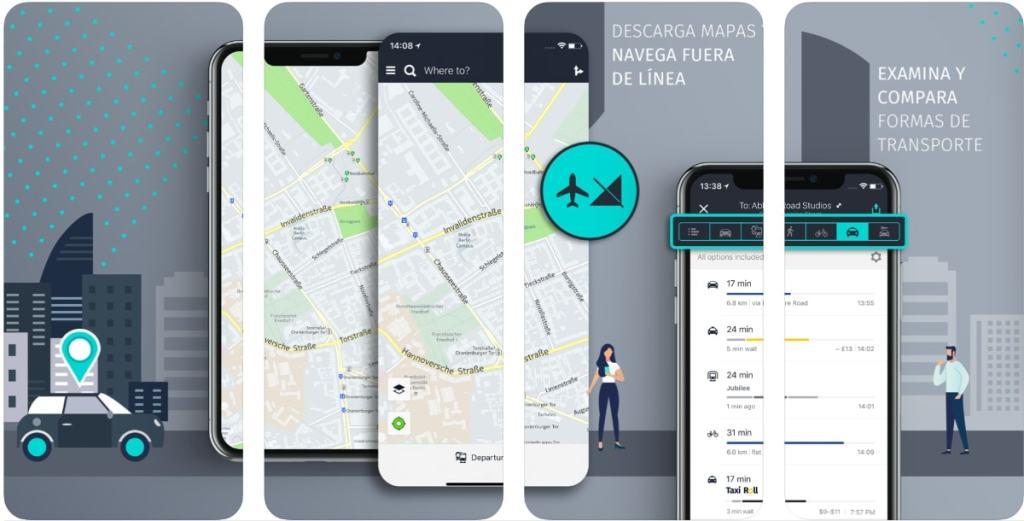 HERE WeGo es una aplicación gratuita que facilita los desplazamientos