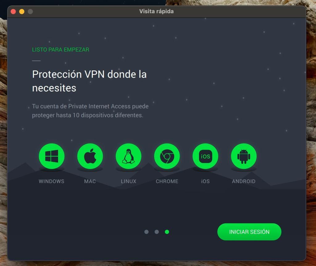 Private Internet Access (PIA VPN): app macOS guia