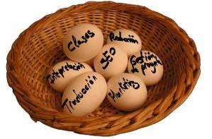 Huevos cesta traducción