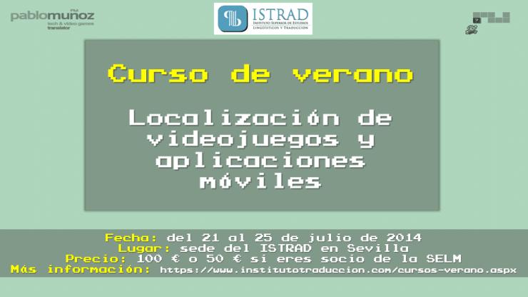 Curso de verano sobre localización de videojuegos y aplicaciones móviles en Sevilla