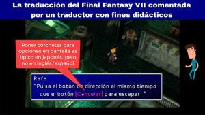 La traducción del Final Fantasy VII comentada por un traductor con fines didácticos