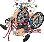 chute en vélo