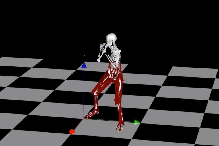 Digital skeleton on chess board