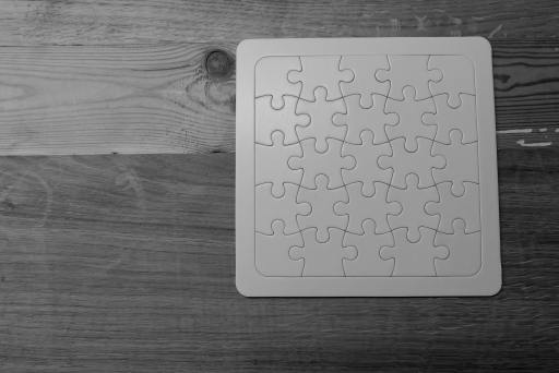 completed white puzzle