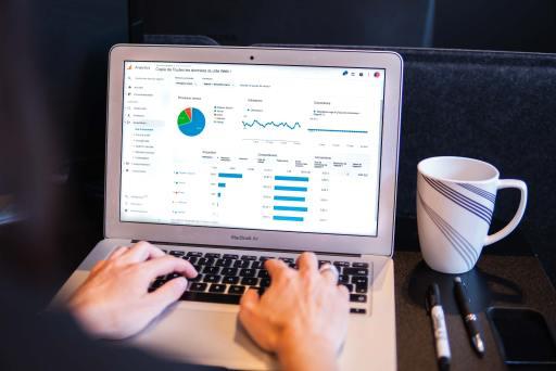 computer showing website traffic data
