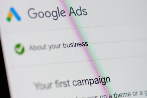 Google ads menu